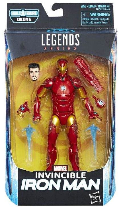 Marvel Legends Invincible Iron Man Black Panther Figure Packaged