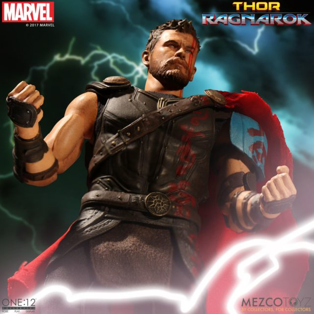 Mezco ONE 12 Collective Gladiator Thor Head without Helmet