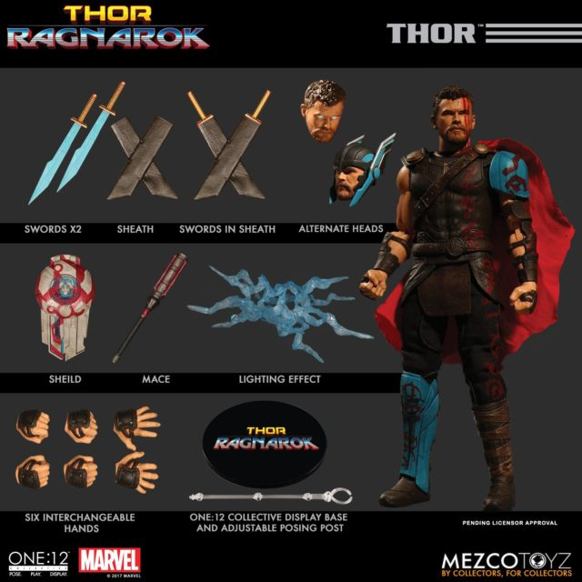 ONE 12 Collective Gladiator Thor Figure and Accessories
