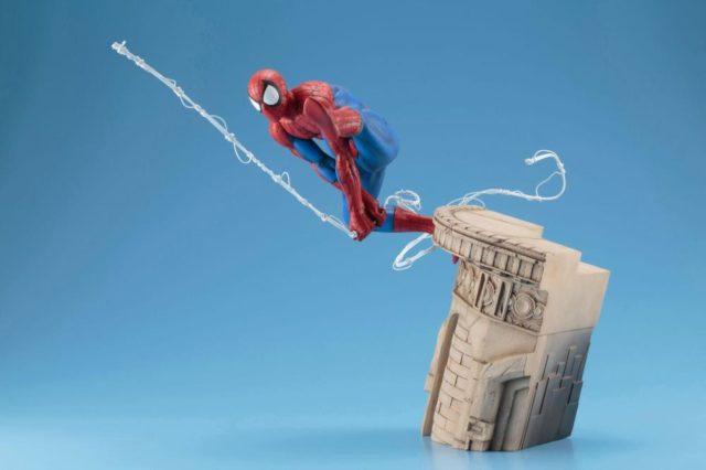 Side View of Kotobukiya Spider-Man 2018 Statue