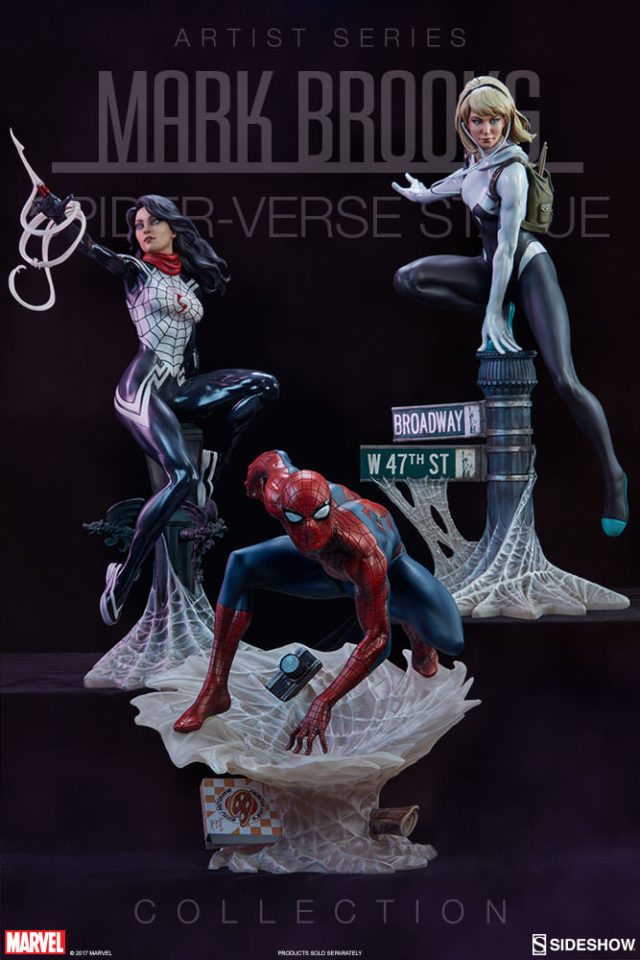 Sideshow Spider-Verse Statues Mark Brooks Collection