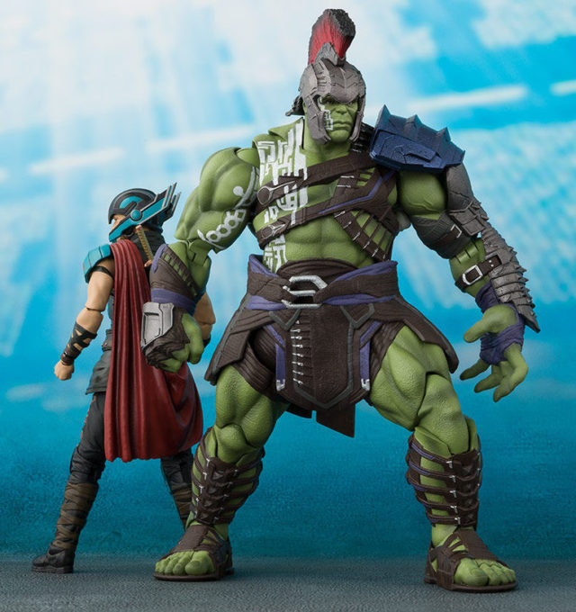 Size Comparison Bandai Thor Ragnarok Figuarts Hulk and Thor Figures