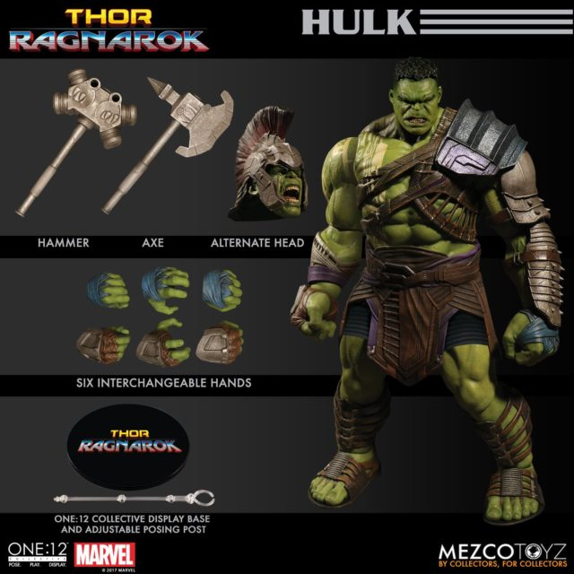Thor Ragnarok ONE 12 Collective Gladiator Hulk Figure and Accessories