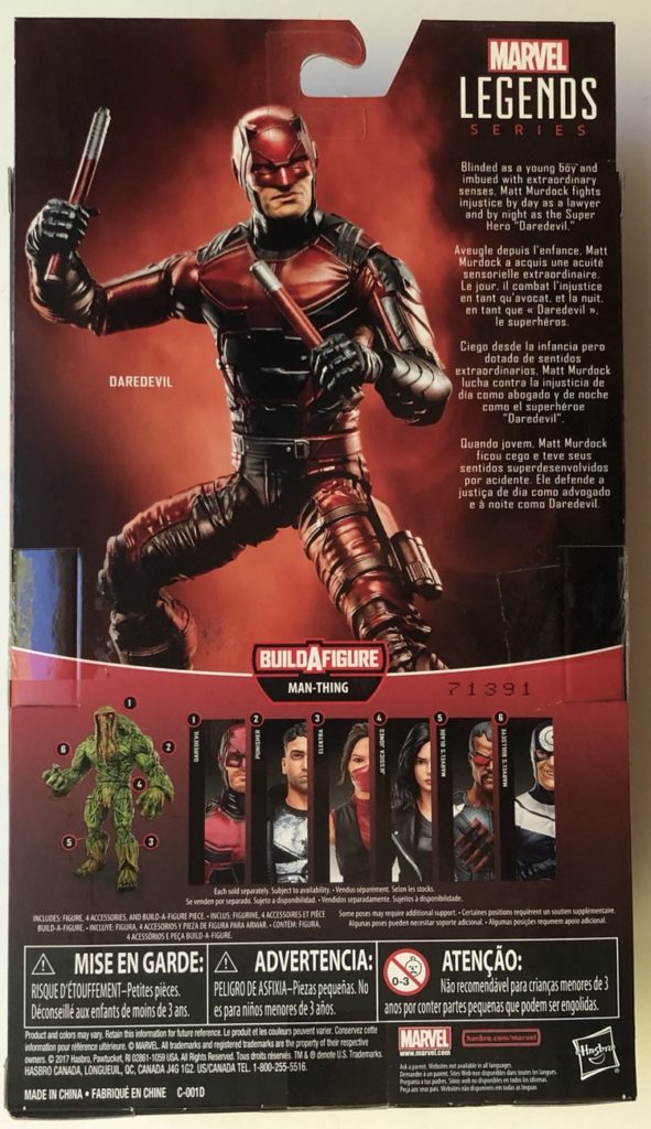 Back of Box ML Daredevil Knights Figure