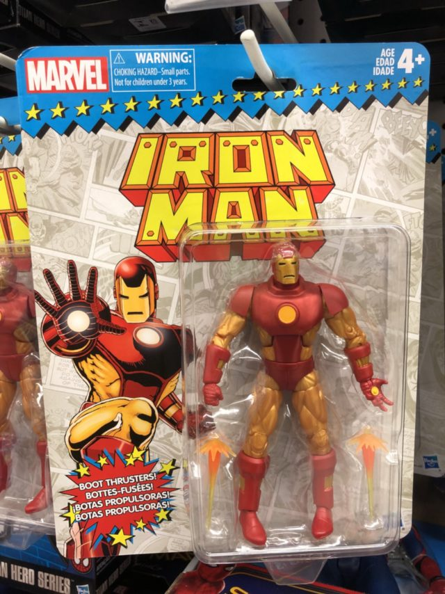 "Marvel Legends 6"" Throwback Series Iron Man Figure Packaged"