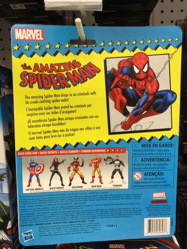 "6"" Marvel Legends Spider-Man Vintage Card Back"