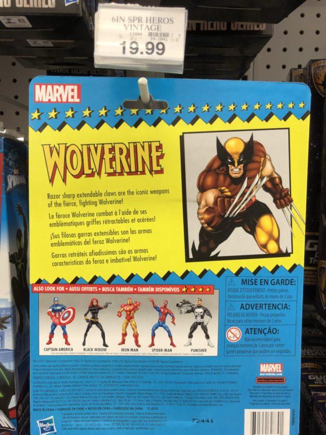 Wolverine Cardback Hasbro ML Vintage Toybiz Retro Series