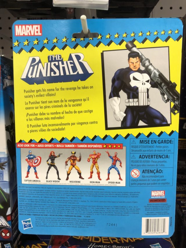 Cardback for Toybiz Tribute Punisher Marvel Legends Figure