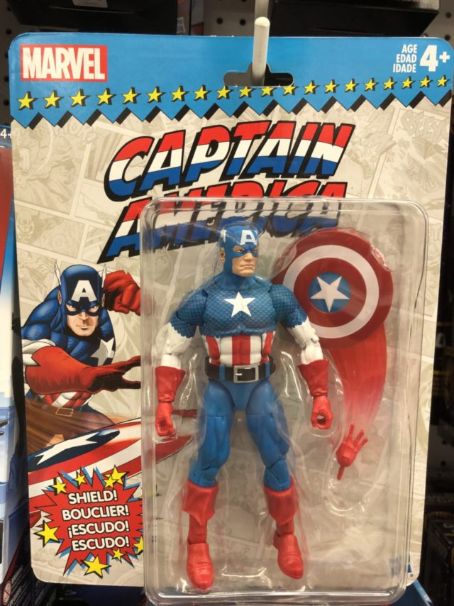Hasbro Marvel Legends Vintage Wave Captain America in Package