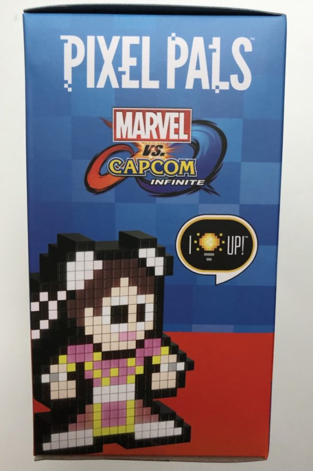 Box Side Pixel Pals Captain Marvel vs. Pink Chun Li
