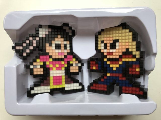 Pixel Pal Pink Chun Li vs. Captain Marvel Two-Pack