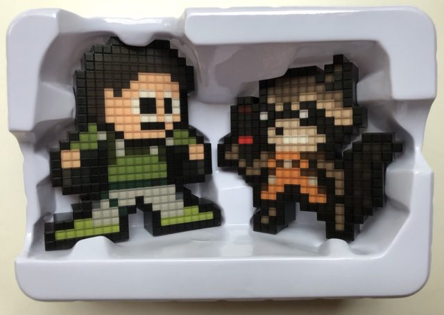 Pixel Pals Gamerverse Chris Redfield vs. Rocket Raccoon Figure