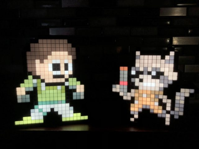Rocket Raccoon Pixel Pal vs. Chris Redfield Lights On