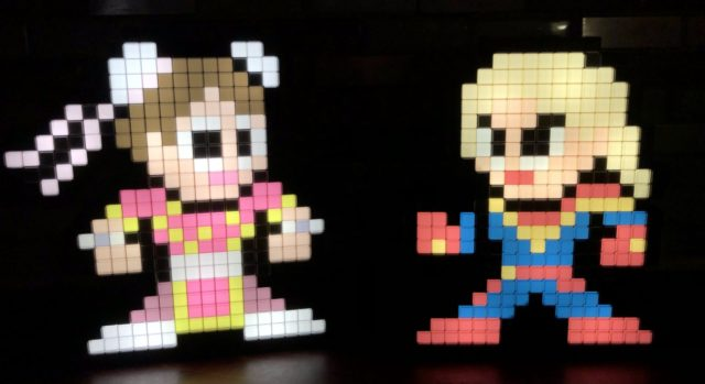 Pixel Pals Captain Marvel vs. Chun Li Review Lights On