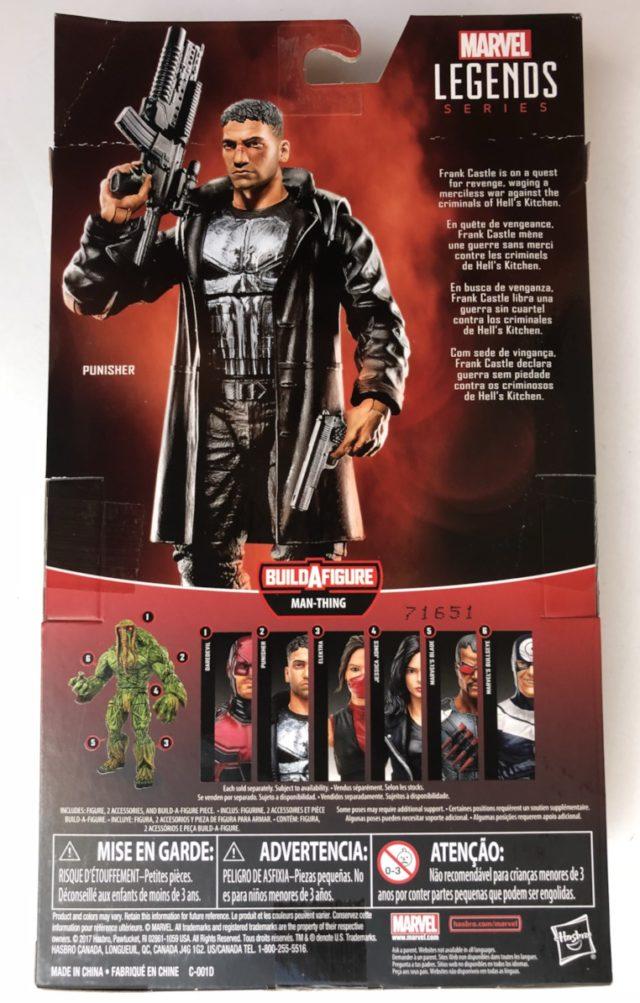 Back of Box Hasbro Netflix Punisher Figure