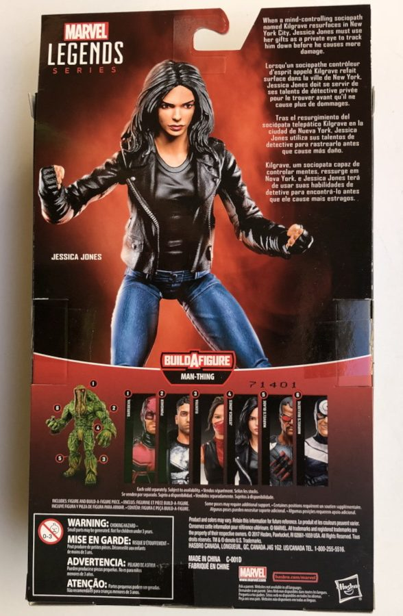 Back of Box Marvel Legends Knights Jessica Jones