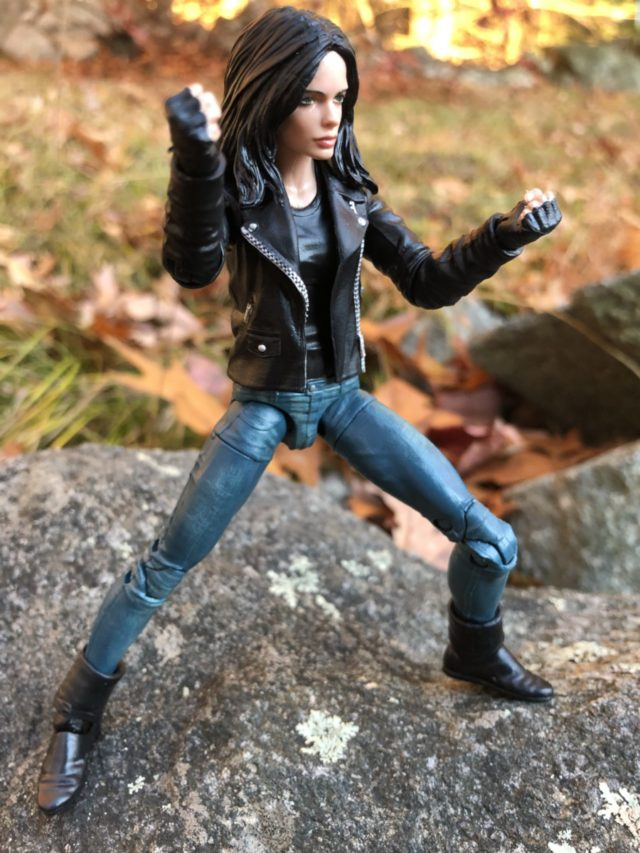 Side View of Jessica Jones Krysten Ritter Action Figure Hasbro