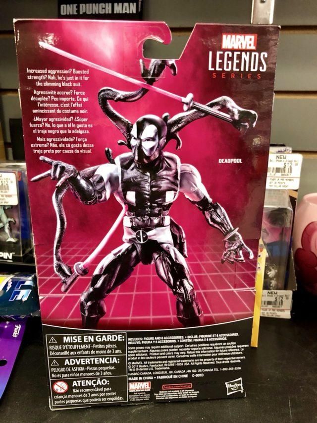 Back in Black Deadpool Box Back Marvel Legends