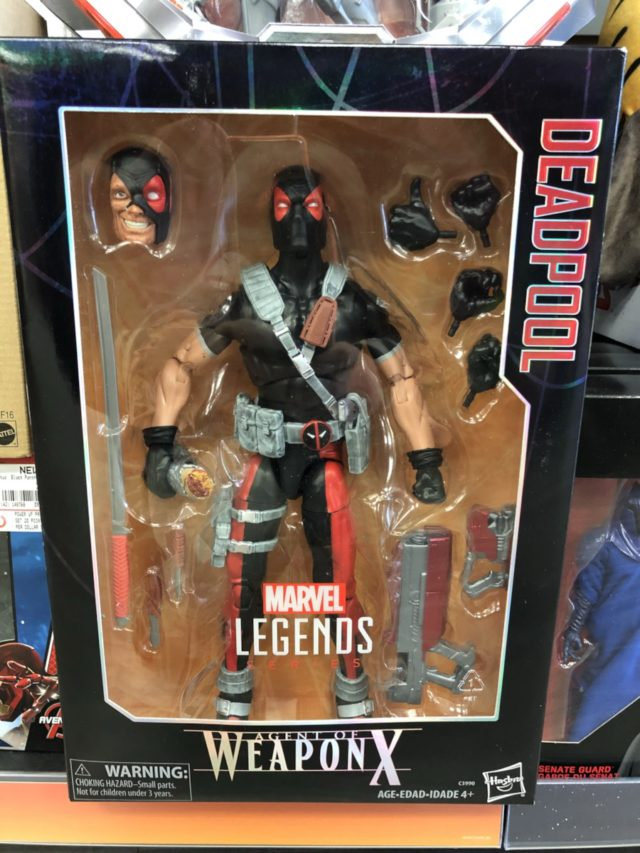 "12"" Marvel Legends Weapon X Deadpool Figure Packaged"