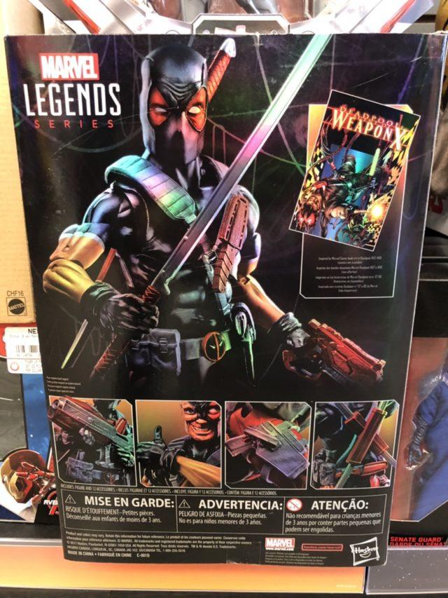 "Marvel Legends 12"" Black Deadpool Box Back"