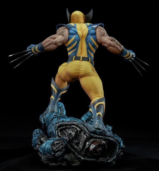 Back of 2018 Sideshow Premium Format Wolverine Figure