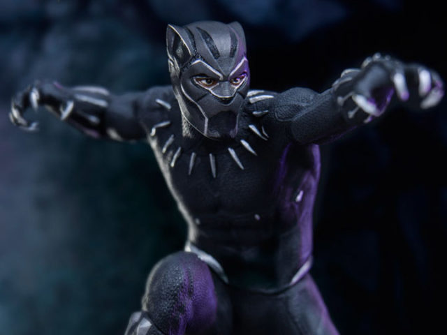 Close-Up of Iron Studios Black Panther Movie Statue