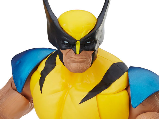 Close-Up of Marvel Legends 12 Wolverine Figure Masked Head