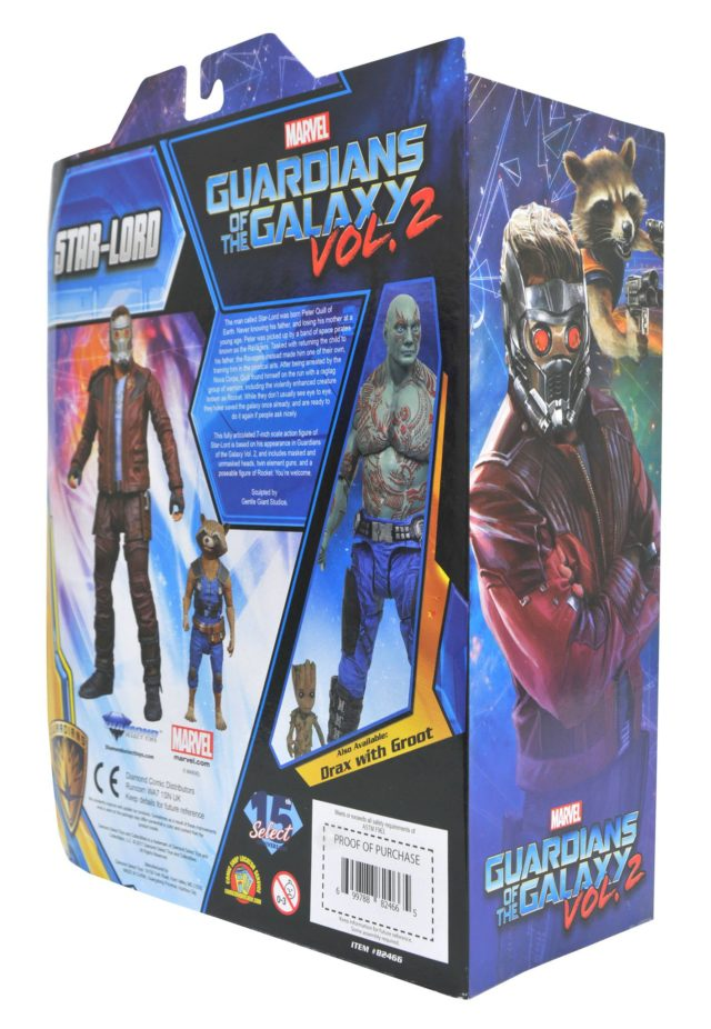 Guardians of the Galaxy 2 Marvel Select Star-Lord Box Back