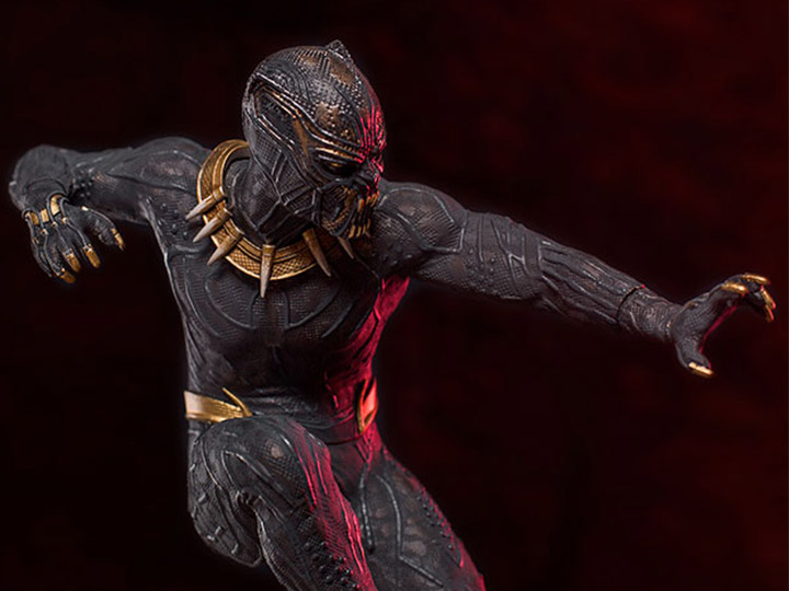 iron studios black panther battle diorama statues up for order marvel toy news. Black Bedroom Furniture Sets. Home Design Ideas