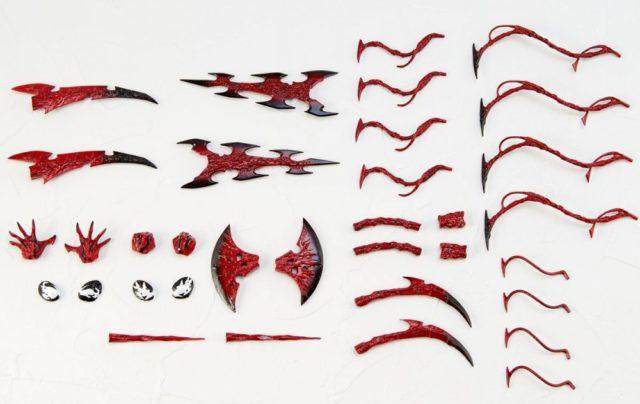 Kaiyodo Carnage Revoltech Accessories