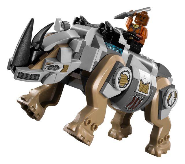 LEGO Black Panther Robo-Rhinoceras Figure with Okoye Minifigure
