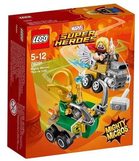 LEGO Marvel 2018 Mighty Micros Thor vs. Loki Box