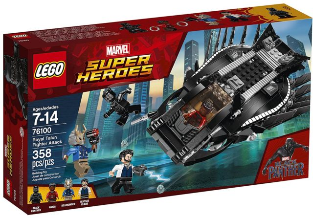 LEGO Marvel Black Panther Movie Royal Talon Fighter Attack Box Front