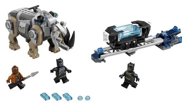 LEGO Marvel Black Panther Rhino Face Off Set Contents and Minifigures