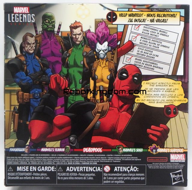 Marvel Legends Deadpool Mercs for Money Box Set Back