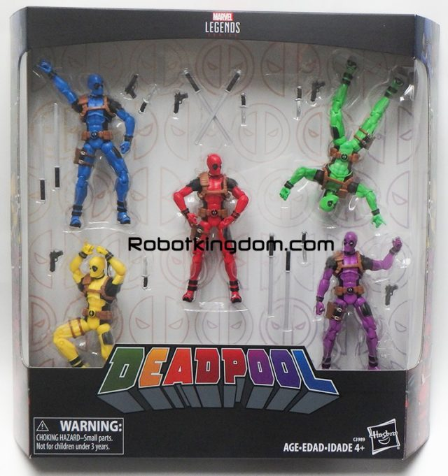 Marvel Legends Exclusive Deadpool Mercs for Money Rainbow Squad Box Set of Figures