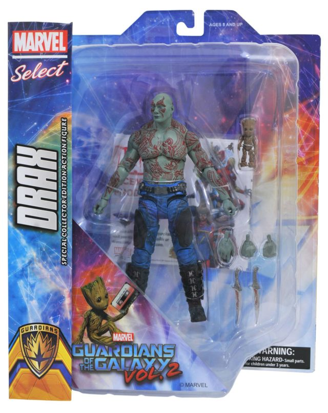Marvel Select Drax and Groot Figures Packaged