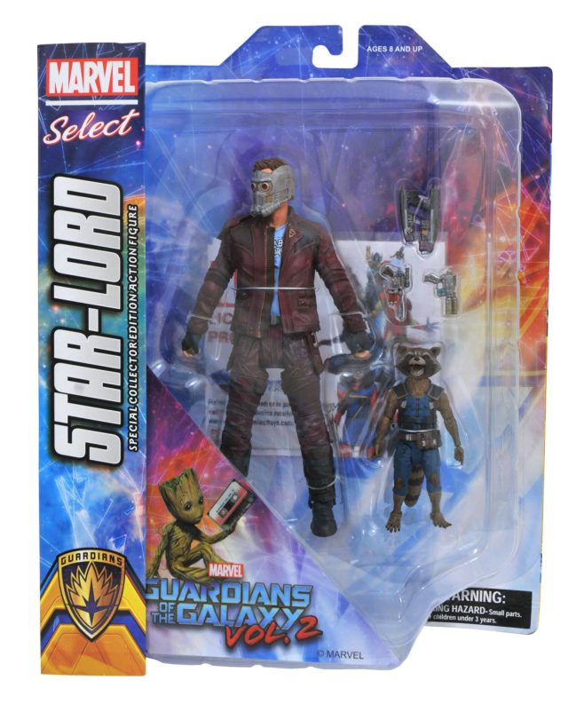 Marvel Select GOTG Vol. 2 Star-Lord and Rocket Raccoon Packaged