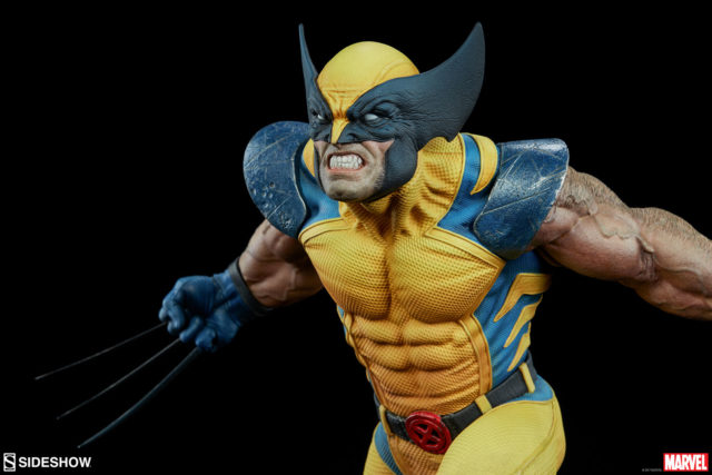 Masked Head on Regular Sideshow Collectibles Premium Format Figure Wolverine