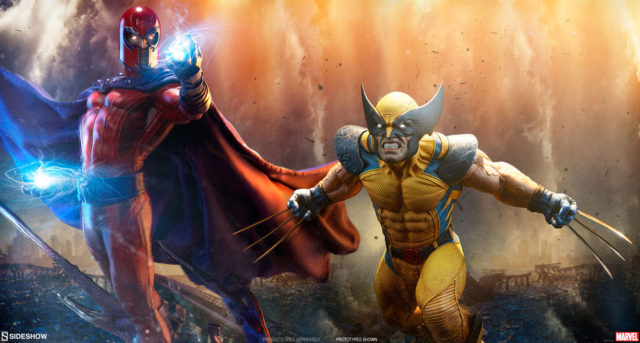 Sideshow Magneto and Wolverine Premium Format Figures