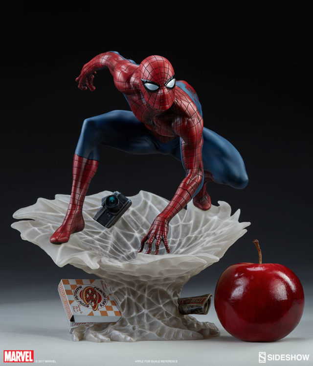 Size Scale Photo Spider-Man Mark Brooks Spider-Verse Statue Sideshow Collectibles
