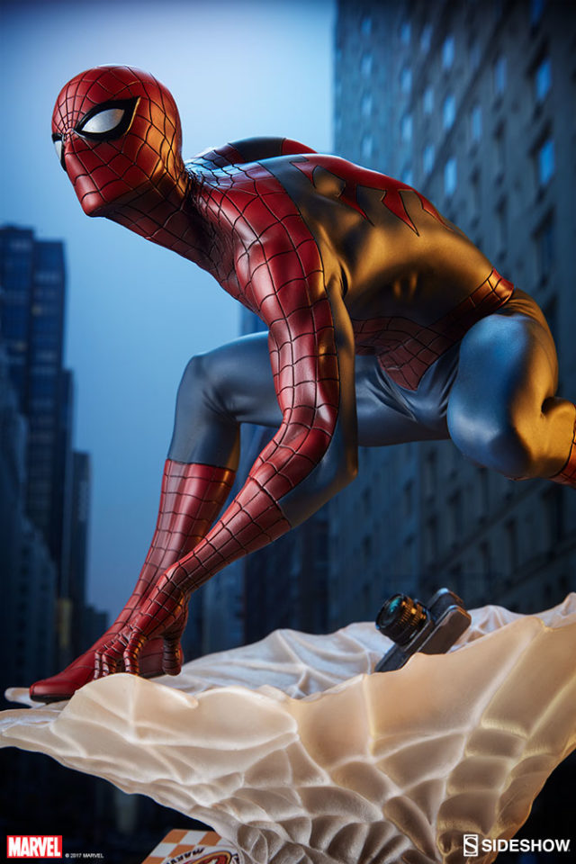 Spider-Man Statue Sideshow Collectibles Mark Brooks Collection