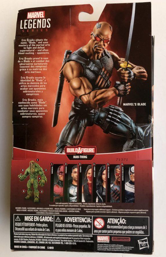 Box Back ML Blade Figure 2017 Hasbro