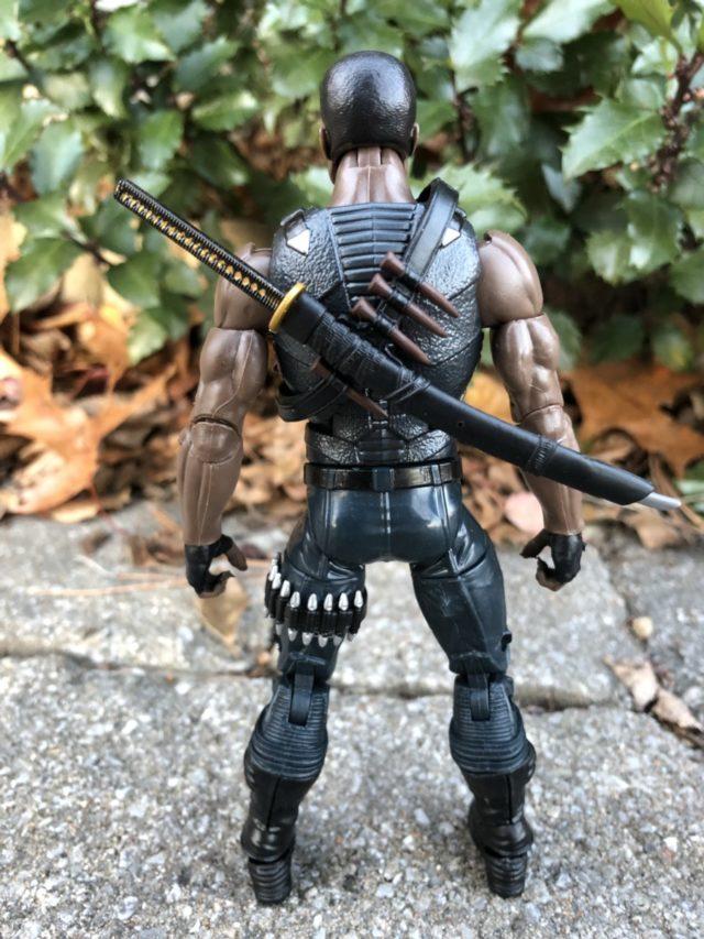 Back of Marvel Legends Blade Vampire Hunter Action Figure