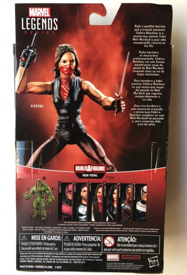 "Back of Box Netflix Legends Elektra 6"" Figure"