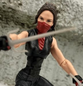 "Close-Up of Netflix Legends Elektra 6"" Figure"