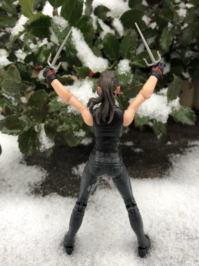 "Back of Hasbro 6"" Marvel Legends Elektra Netflix Figure"