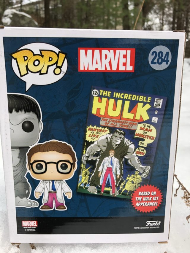Box Back Hulk and Bruce Banner Two Pack Marvel Collector Corps