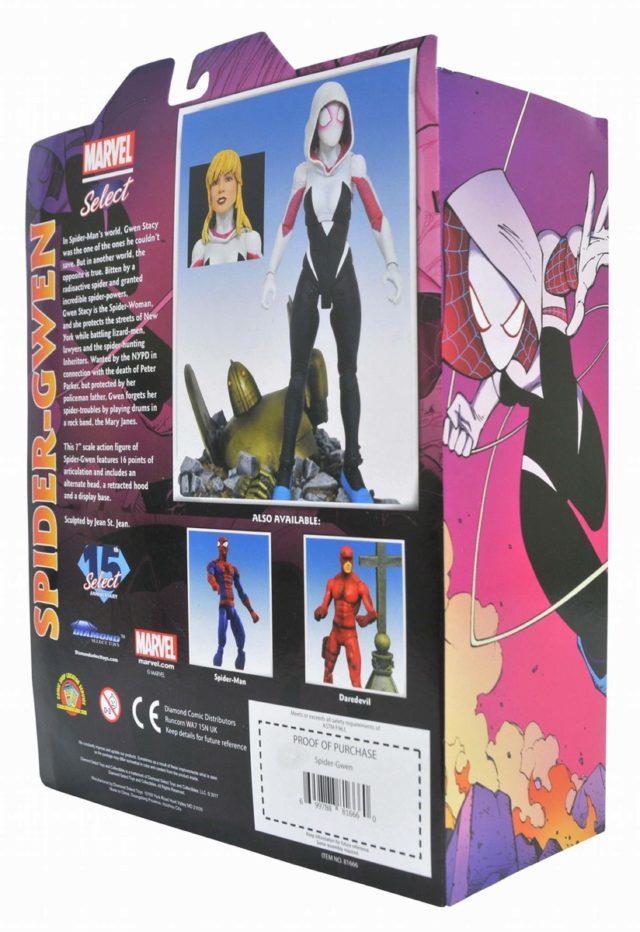 Diamond Select Toys Spider-Gwen Figure Box Back