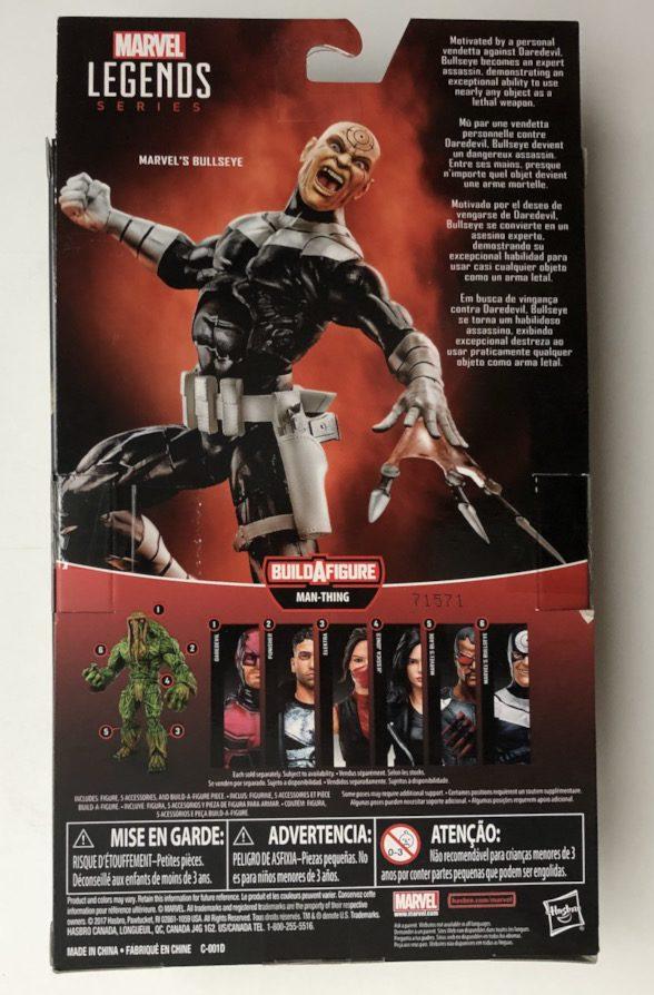 Box Back Netflix Marvel Legends Bullseye Figure